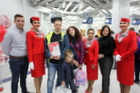 Royal Flight Celebrates Arrival of 5 millionth Passenger in Tolmachevo Airport